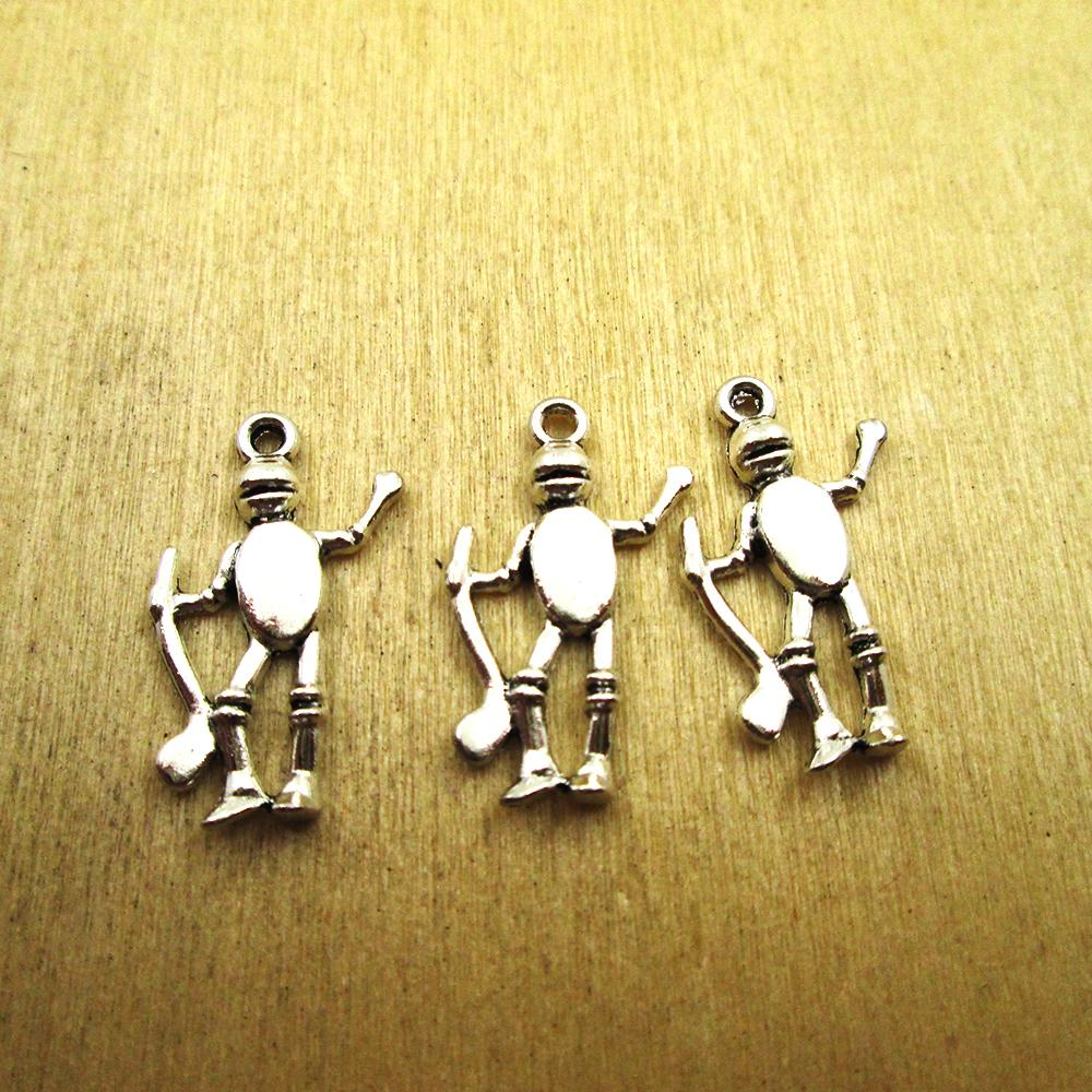 Fashion Jewellery Look Tin Man Wizard Of Oz Gold Plated Over Reals Sterling Silver Charm Pendant Charms & Charm Bracelets