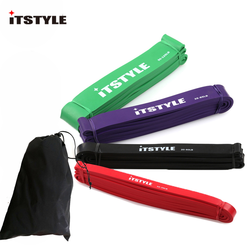 ITSTYLE 4pcs lot 41 Resistance Band Crossfit Strength latex Loop Power Expander Hanging Fitness Rubber Pull