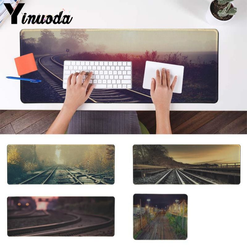 Yinuoda Personalized Cool Fashion railway Large Mouse pad PC Computer mat Size for 250*290 300*900 400*900cm