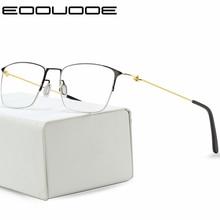 Titanium Glasses Frame Men Prescription Eyeglasses Women Myopia Optical 2018 New Korean Screwless Eyewear