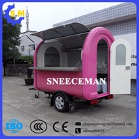 CE approved new arrival traction snack dining cart stainless food cart hot dog food cart china food van