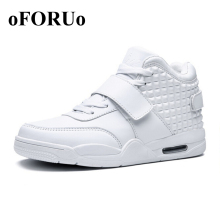 New 2016 Men Spring Running Shoes Red Leather Men High Top Sneakers Shoe Breathable Winter Men