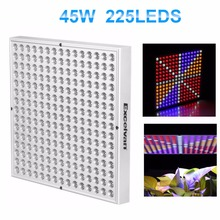 Excelvan 45W LED Hydroponic Plant Grow Light Full Spectrum Growing Lamp Red Blue White Orange Indoor Plant Grow Hanging LightKit