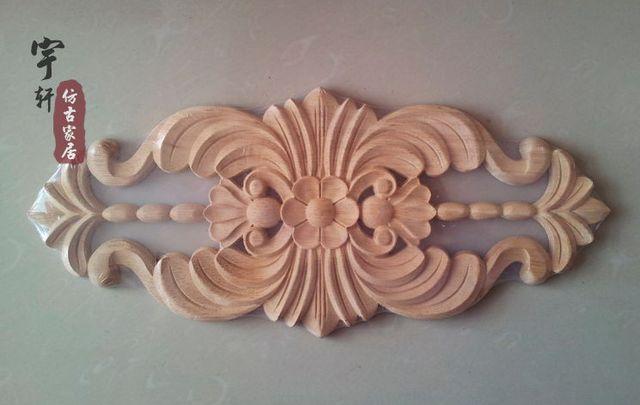 Dongyang wood carving applique corner flower corbel fashion