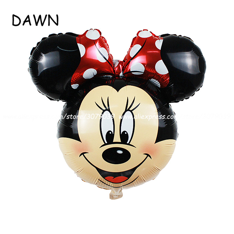 50pcs/lot mickey and minnie decorations balloons Birthday Party Wedding decorations childrens toys cartoon balloons