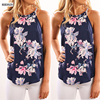 HIRIGIN 2017 Sexy Women Summer Loose Vest Tank Top Lady Sleeveless Blouse Casual Print Floral Dark
