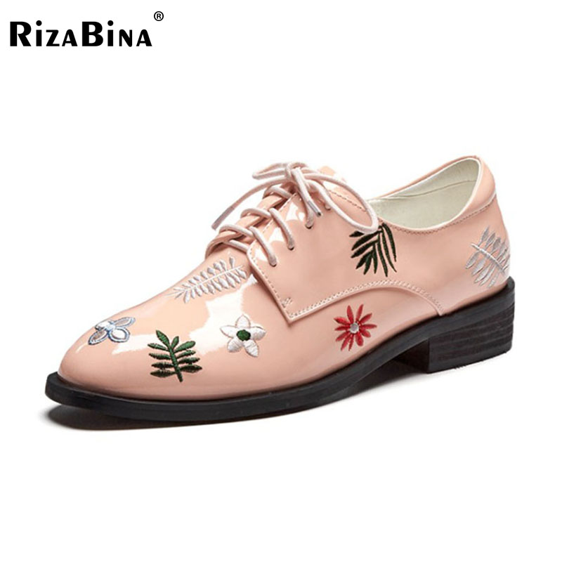 RizaBina Real Leather Lady Office Mid Heels Pumps Cross Strap Square Toe Thick Heel Shoes Women Leisure Footwear Size 34-40 rizabina concise women sneakers lady white shoes female butterfly cross strap flats shoes embroidery women footwear size 36 40