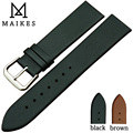 MAIKES New Good Quality Thin Soft Comfortable Watch Strap Band 18 20 22 mm Genuine Leather Watchbands Bracelet Belt