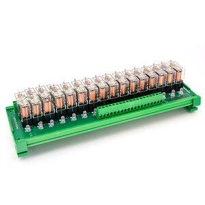 Image 2 - 16 канальный релейный модуль OMRON DC 24 В, Плата усилителя PLC, 16 дорожных релейных модулей
