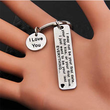 Bycobecy Unisex Key Case Key Holder Butler Waist Key Bag Stainless Steel Men And Women Pendant I love you Valentine's Day Gift(China)