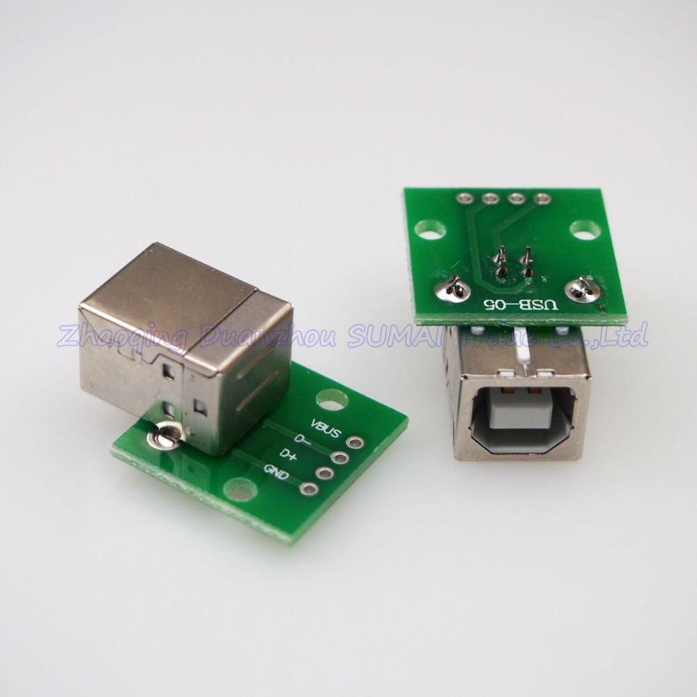 USB to DIP adapter board B Type Square port USB 2.0