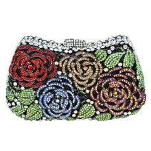 LaiSC Blume Handtasche Diamant Luxus Clutch Abendtasche Hochzeit Geldbörse weihnachtsgeschenk Tasche Frauen Kristall Handtaschen SC281