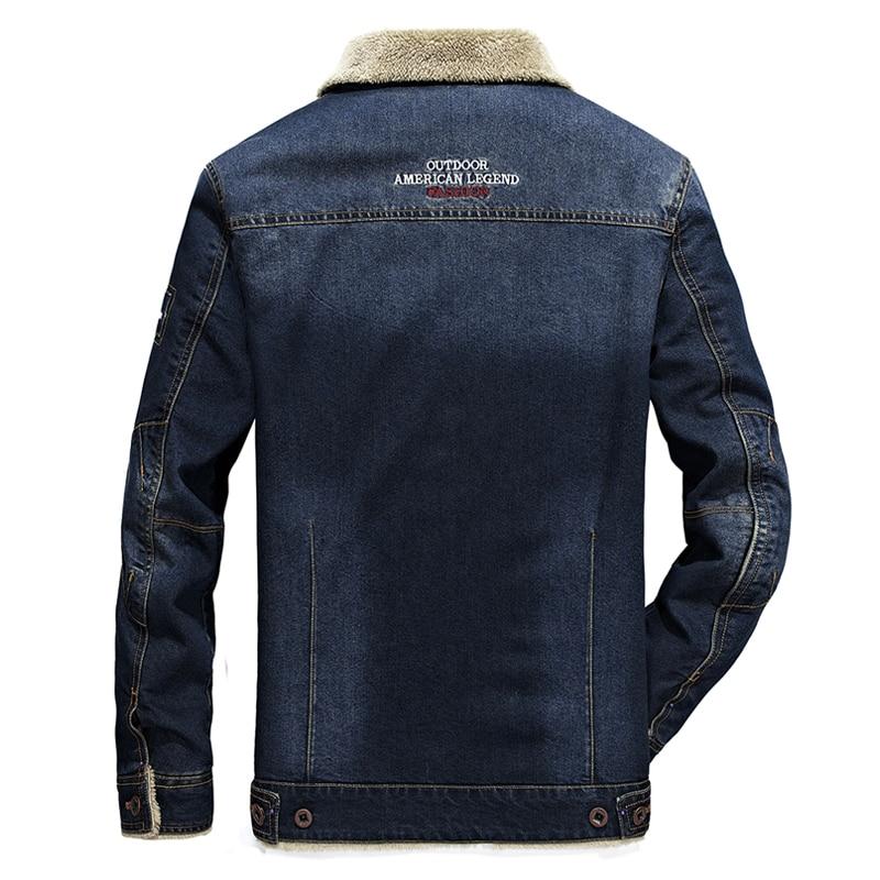 Image 4 - BOLUBAO Winter Men Denim Jackets Coat New Men's Street Trend Jackets Male Brand Plus Velvet Thickening Denim Jacket Coats-in Jackets from Men's Clothing