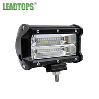 LEADTOPS 1pcs 5INCH 72W Three Rows Led Light Bar Modified Off Road Driving Roof Light Bar