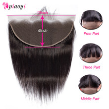 Piaoyi Brazilian Straight Frontal Remy Human Hair 13x6 Ear To Ear Full Lace Frontal Closure Bleached Knots With Baby Hair(China)