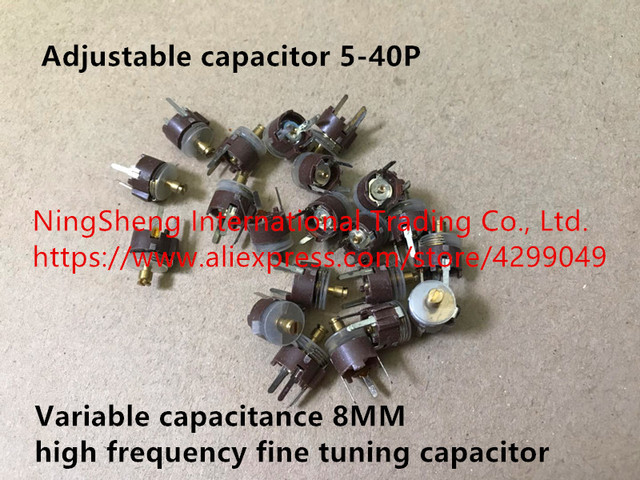 Original new 100% import adjustable capacitor 5-40P variable capacitance 8MM high frequency fine tuning capacitor (Inductor)
