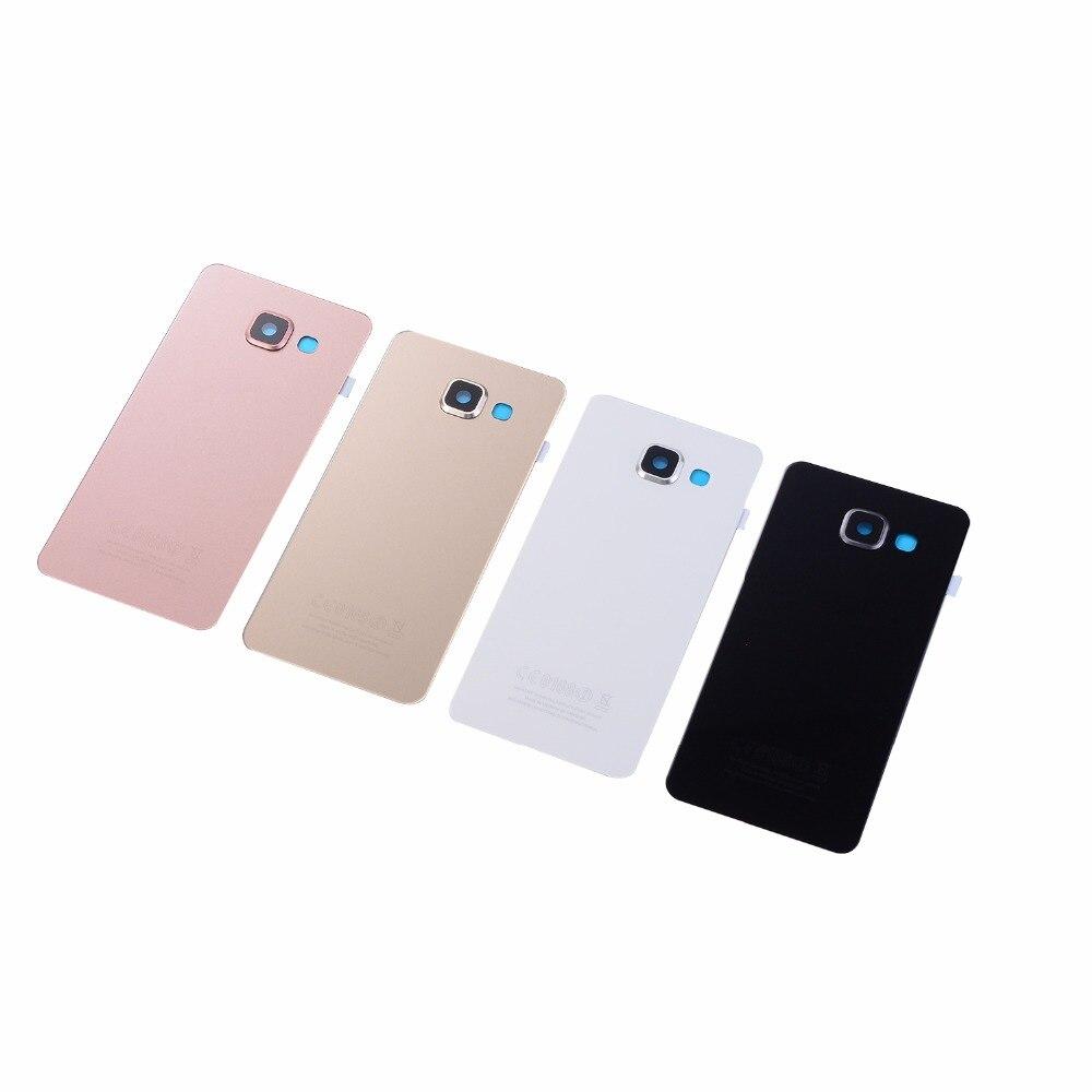 For Samsung Galaxy A3 A5 A7 2016 A310F A510F A710F Battery Glass Cover Housing Rear Cover+Camera Lens Cover+Sticker