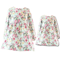 Primavera/Otoño Vestidos Hija Madre Ocasional Impreso Floral Vestidos Family Look de Manga Larga Vestidos de La Madre y Las Niñas Para Las Niñas