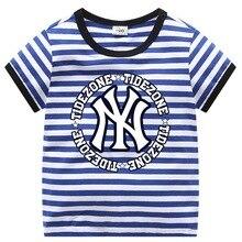 Children's shirt T-shirt 2019 new boys and girls children baby cotton shirt red striped short-sleeved T-shirt 2 4 6 8 years стоимость