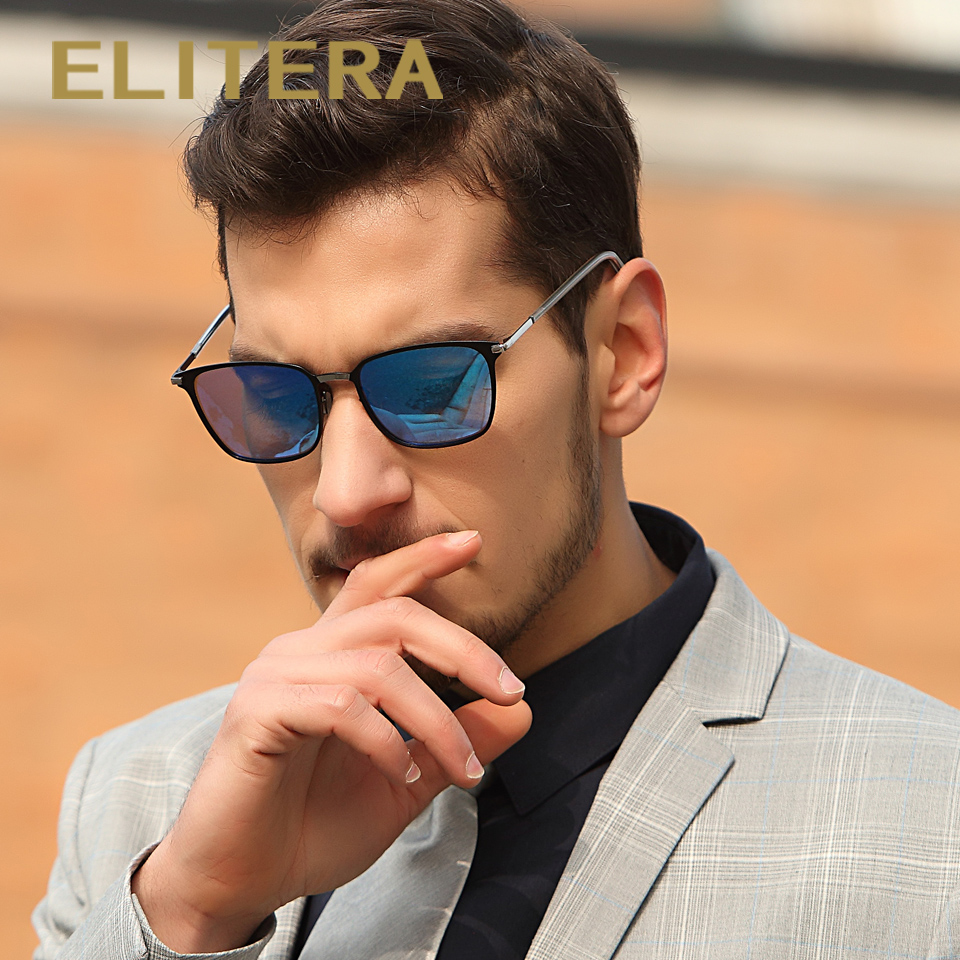 ELITERA New Fashion Brand Designer Alloy Sunglasses Polarized Mirror lens Male oculos Sun glasses Eyewear For Men