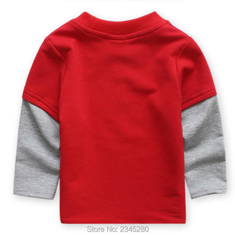 T-Shirts For Boys Girls Deer Animal Print Sweatshirt Clothes Childrens Sweaters Raglan Tops Teen Children Blouse Kids Tees Bobo06