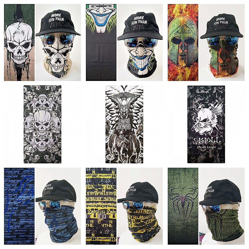Mouth Face Mask Bangtan Fashion Boys Skull Masks Anime Balaclava Headband Mask Scary Halloween Face Shield Neck Warmer Scarf