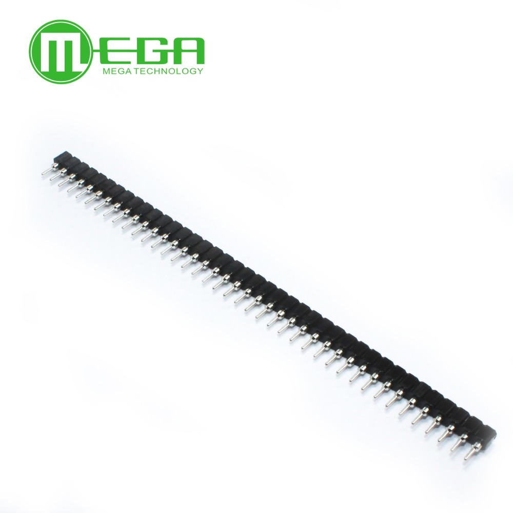 100pcs 1x40 Pin 2.54 Round Female Pin Header Connector