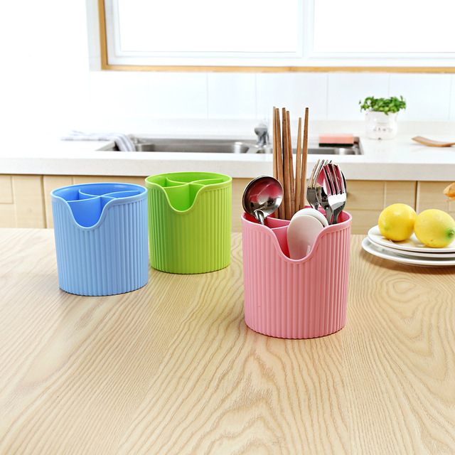 Plastic Chopstick Box Kitchen Chopstick Forks Spoons Plastic Storage Holder Organizer Kitchen Storage Organization Color Random