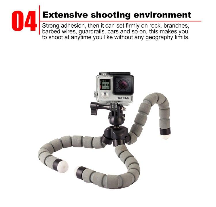 Tripé Flexível Suporte Para Câmera Do Telefone