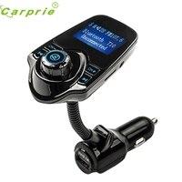 Pretty Blue Car Kit Handsfree Wireless Bluetooth FM Transmitter MP3 Player USB LCD Modulator Jn22