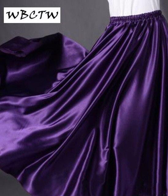 b6636bc7d5 2017 satin maxi skirt XXS-7XL Royal Blue Women Lady Satin Full Circle Satin Skirt  Long Skirts