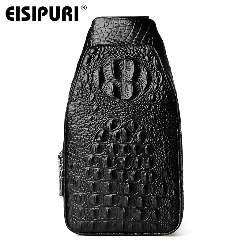EISIPURI brand NEW men Genuine leather famous messenger bag high quality men shoulder crossbody bags fashion casual chest bagEISIPURI brand NEW men Genuine leather famous messenger bag high quality men shoulder crossbody bags fashion casual chest bag