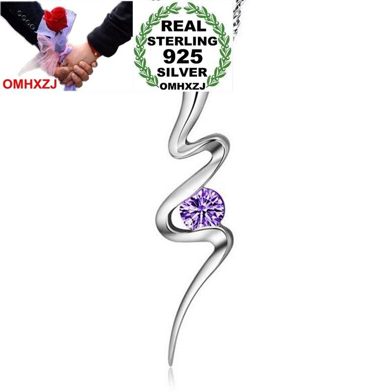 Omhxzj Großhandel Mode Ol Frau Mädchen Geschenk Liebe Flamme Aaa Zirkon 925 Sterling Silber Anhänger Charms Pe156 Edler Schmuck keine Kette Halskette Anhänger