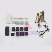 White Plastic For PS3 Slim Console Screws w/ Screw Rubber Feet Cover Set