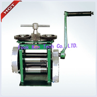 Herramientas Joyeria DIY Tools Hand Operated Jewellers Roller Mill Rolling Mill Jewelry Making Tools With Gear
