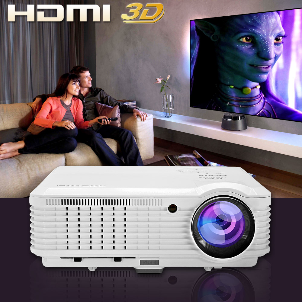 CAIWEI LED Projector Home Cinema Theater Beamer Full HD Video Game Movie Digital TV Proyector 1080p with HDMI USB VGA 4500LM 300inch 5500ansi short throw movie home theater outdoor dlp 3d multimedia cinema film vga digital 1080p video projector beame