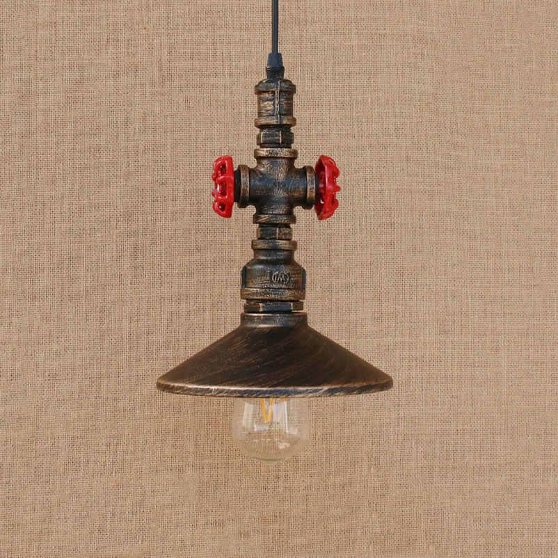 Indústria retro loft pingente lâmpadas tubulação de água lâmpadas ferro sala jantar bar pub club restaurante cafe lustre luminária