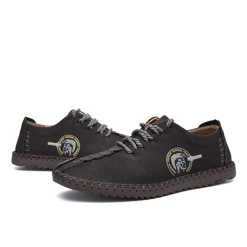 Vache Casual Grande Hommes Qualité golden En Marque Black Vkergb Chaussures Haute khaki Mode Taille La Main Mocassins Cuir À Véritable wqFzZ1x6