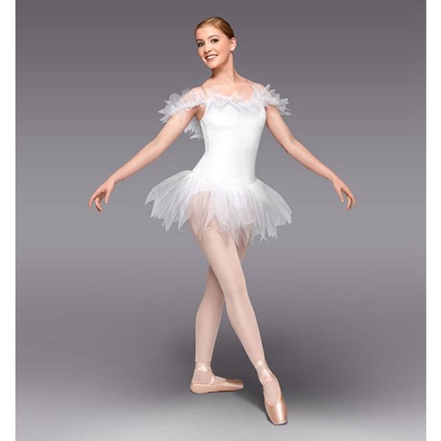 a60ec2dad8 Genio vestidos de Ballet blanco Ballet Falda corta de hadas vestido de  Ballet para practicar o