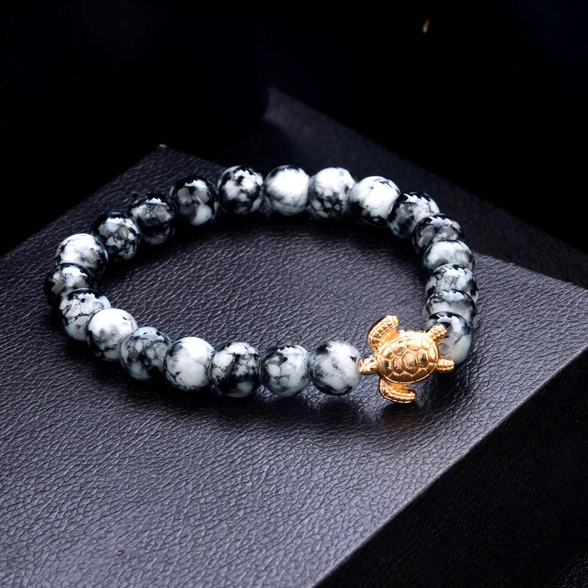 Szare koraliki bransoletki czeski kreatywny mapa świata żółw miłość serce nieskończoność uroku bransoletki zestaw moda biżuteria drop shipping