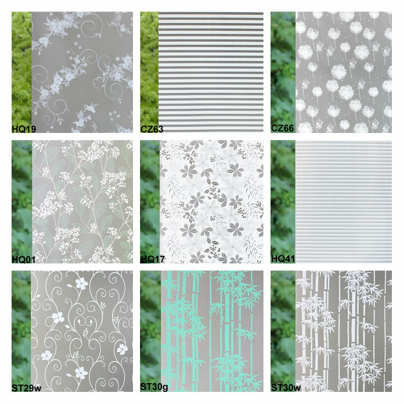 45*200cm Self-Adhesive Window Film Frosted Privacy Waterproof Glass Window Sticker Foil Labels For Bedroom Office Staff