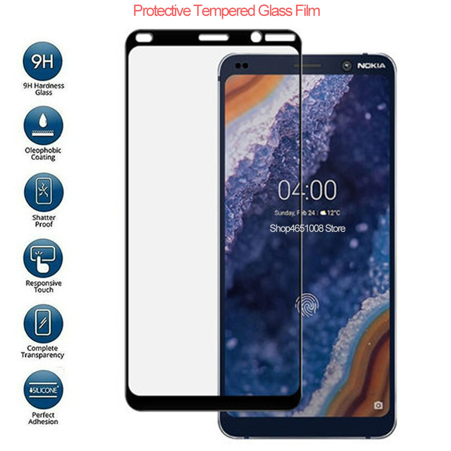 Protective Glass On For Nokia 9 PureView Screen Protector Temepred Glass On Nokia9 Pure View Full Cover Trempe Verre Pelicula 9H