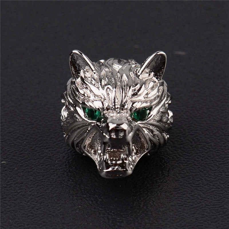新怒っているオオカミビーズファッションメンズブレスレット 4 色 Diy アクセサリーガスケットメタルトップ品質の銅の宝石卸売