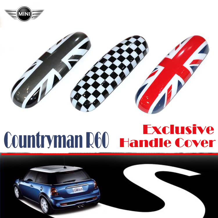 2015 Mini Cooper Countryman R60 Car Interior Inner Door Handle Knob Cover Modified Parts Union Jack Gray Checker Flag carking d1409124 uk flag style abs uv protected door handle cover for mini cooper countryman 4 pcs