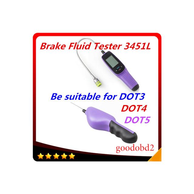 3451L tester fluido de freio de alta qualidade, fluido de freio testador de inspeção digital com luzes LED display de tela grande carro testador de óleo