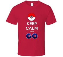 2016 Summer Global Hot Explosion Pokemon Go T Shirts Keep Calm And Go Letter Printed Short