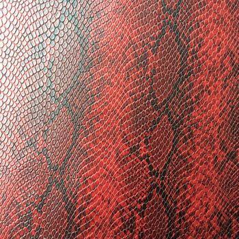 Leatheroid синтетический pu имитация змеиной кожи питона кожаная ткань сырья Y004