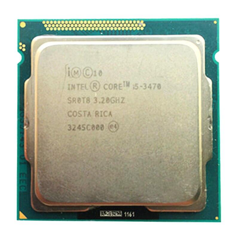 Intel quad core i5 3470 lga 1155 soquete 3.2 ghz usar h61 h67 z77 z68 h77 placa-mãe, tem i5 i5 3550/i5 3570 cpu venda