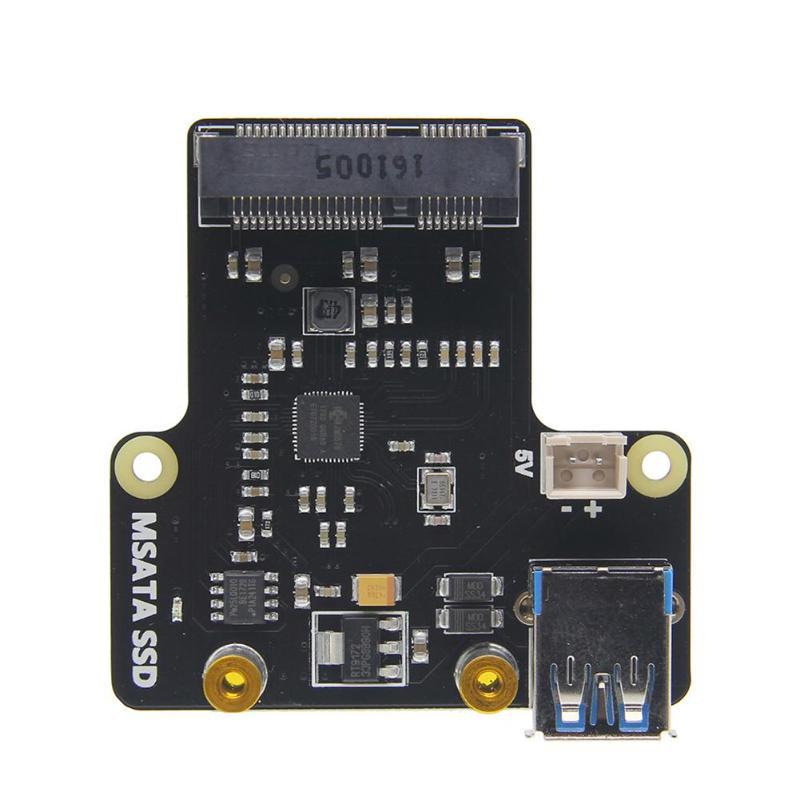 X850 mSATA SSD Hard Disk Storage Expansion Board for Raspberry Pi Support USB 3.0