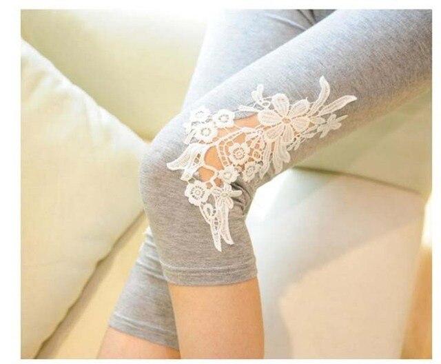 Maternity Leggings New 2016 Pregnant women Short Summer Legging Lace Floral Design Maternity Pants Cotton  Pregnancy Leggings